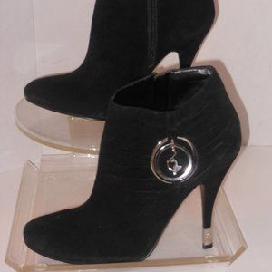 BABY PHAT BLACK SUEDE ANKLE BOOTS SIZE 10 MEDIUM